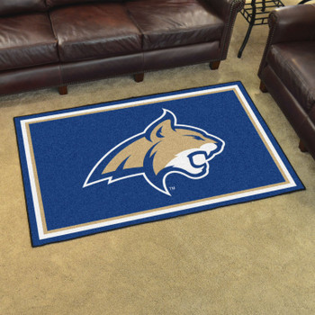 4' x 6' Montana State University Blue Rectangle Rug