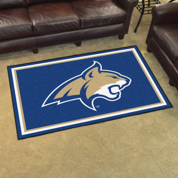5' x 8' Montana State University Blue Rectangle Rug