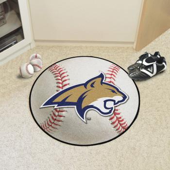 """27"""" Montana State University Baseball Style Round Mat"""