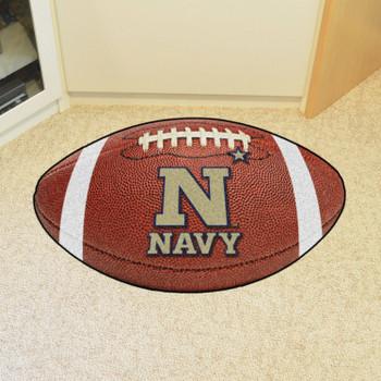 """20.5"""" x 32.5"""" U.S. Naval Academy Football Shape Mat"""