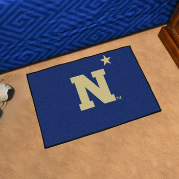 "19"" x 30"" U.S. Naval Academy Navy Blue Rectangle Starter Mat"