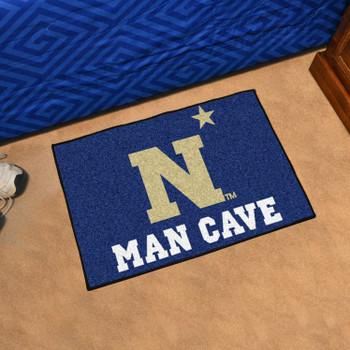 """19"""" x 30"""" U.S. Naval Academy Man Cave Starter Navy Blue Rectangle Mat"""