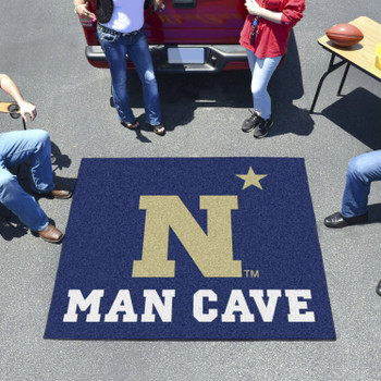 "59.5"" x 71"" U.S. Naval Academy Man Cave Tailgater Navy Blue Rectangle Mat"
