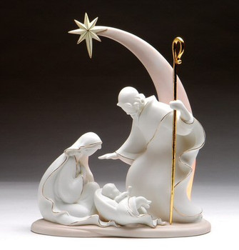 Shooting Star Holy Family Porcelain Sculpture