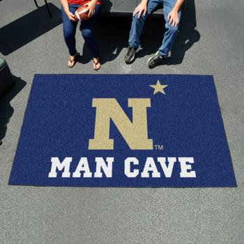 "59.5"" x 94.5"" U.S. Naval Academy Man Cave Navy Blue Rectangle Ulti Mat"