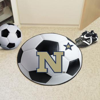 """27"""" U.S. Naval Academy Soccer Ball Round Mat"""