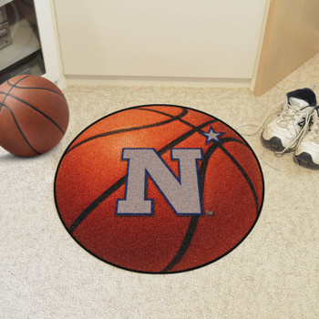 "27"" U.S. Naval Academy Basketball Style Round Mat"