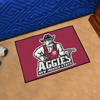 "19"" x 30"" New Mexico State University Red Rectangle Starter Mat"