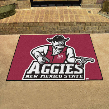 "33.75"" x 42.5"" New Mexico State University All Star Red Rectangle Mat"