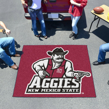 "59.5"" x 71"" New Mexico State University Red Tailgater Mat"