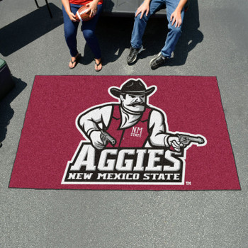 "59.5"" x 94.5"" New Mexico State University Red Rectangle Ulti Mat"