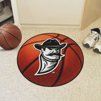 "27"" New Mexico State University Basketball Style Round Mat"