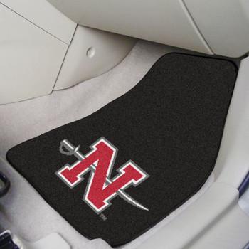 Nicholls State University Black Carpet Car Mat, Set of 2