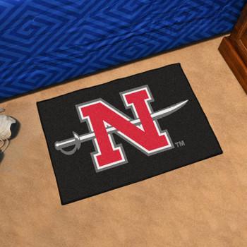 "19"" x 30"" Nicholls State University Black Rectangle Starter Mat"