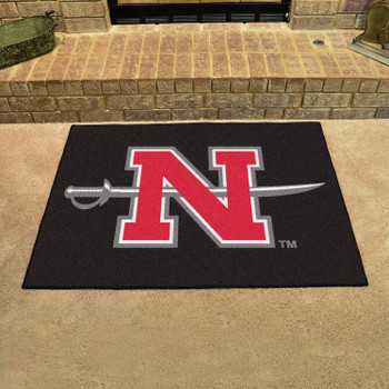"33.75"" x 42.5"" Nicholls State University All Star Black Rectangle Mat"