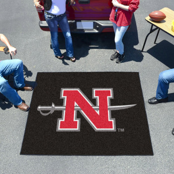 "59.5"" x 71"" Nicholls State University Black Tailgater Mat"