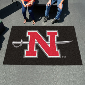 "59.5"" x 94.5"" Nicholls State University Black Rectangle Ulti Mat"
