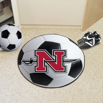 "27"" Nicholls State University Soccer Ball Round Mat"