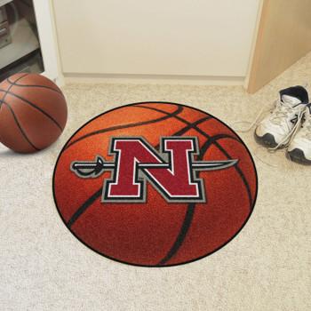 """27"""" Nicholls State University Basketball Style Round Mat"""