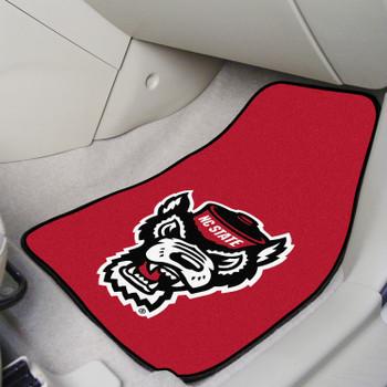 North Carolina State University Carpet Car Mat, Set of 2