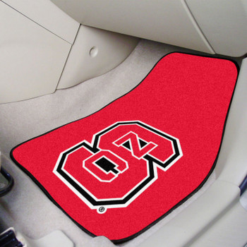 North Carolina State University Red Carpet Car Mat, Set of 2