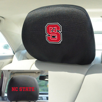 North Carolina State University Car Headrest Cover, Set of 2