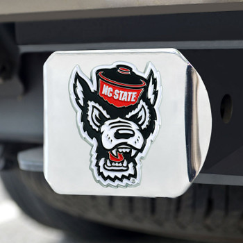 North Carolina State University Color Hitch Cover - Chrome