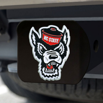 North Carolina State University Hitch Cover - Color on Black