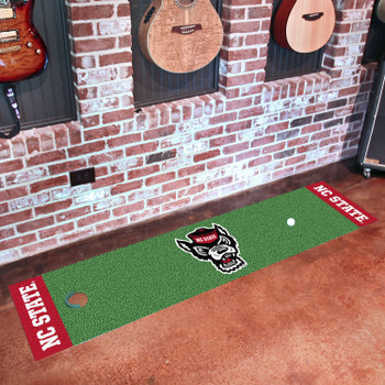 "18"" x 72"" North Carolina State University Wolfpack Putting Green Runner Mat"