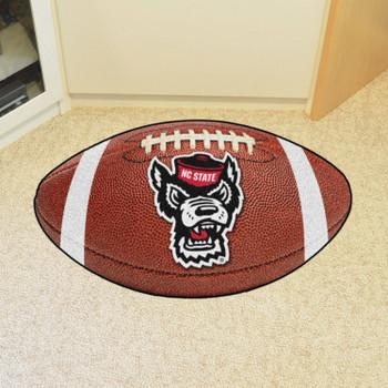 """20.5"""" x 32.5"""" North Carolina State University Wolfpack Football Shape Mat"""
