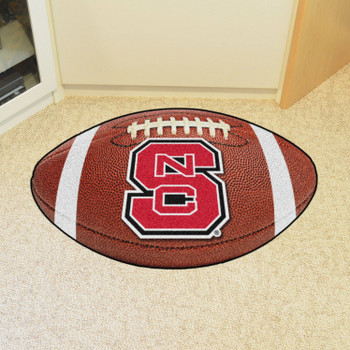 """20.5"""" x 32.5"""" North Carolina State University Football Shape Mat"""