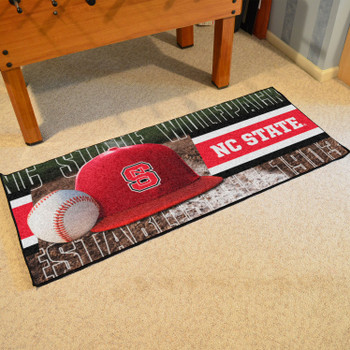 "30"" x 72"" NC State Baseball Style Rectangle Runner Mat"