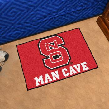"19"" x 30"" North Carolina State University Red Man Cave Starter Rectangle Mat"