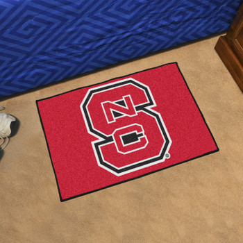 "19"" x 30"" North Carolina State University Red Rectangle Starter Mat"
