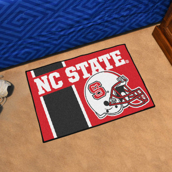 "19"" x 30"" North Carolina State University Uniform Red Rectangle Starter Mat"