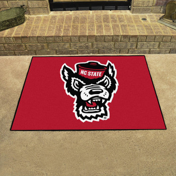 "33.75"" x 42.5"" North Carolina State University Wolfpack All Star Red Rectangle Mat"
