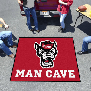 "59.5"" x 71"" North Carolina State University Wolfpack Red Man Cave Tailgater Rectangle Mat"