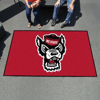 "59.5"" x 94.5"" North Carolina State University Wolfpack Red Rectangle Ulti Mat"