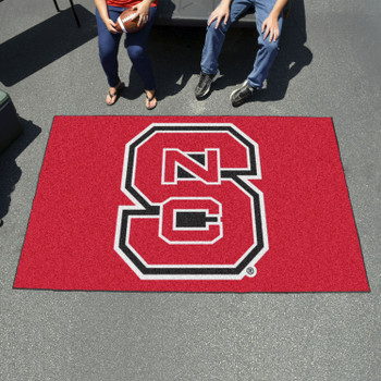 "59.5"" x 94.5"" North Carolina State University Red Rectangle Ulti Mat"
