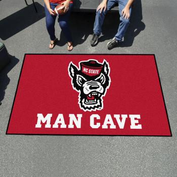 "59.5"" x 94.5"" North Carolina State University Wolfpack Red Man Cave Rectangle Ulti Mat"