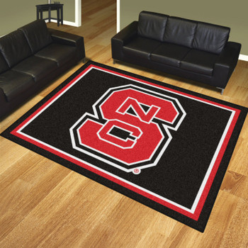 8' x 10' North Carolina State University Black Rectangle Rug