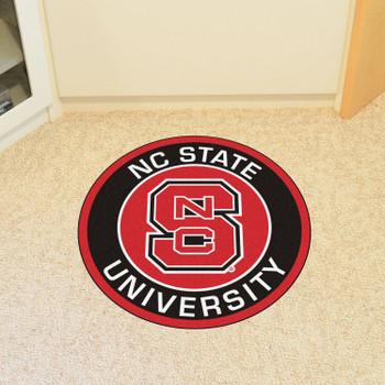 "27"" North Carolina State University Roundel Round Mat"
