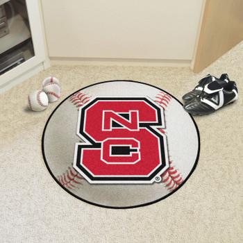 """27"""" North Carolina State University Baseball Style Round Mat"""