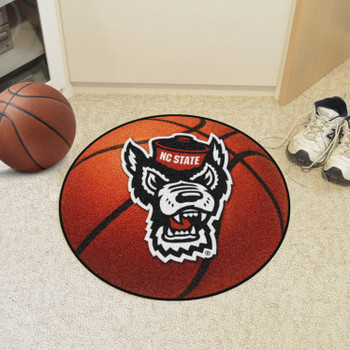 "27"" North Carolina State University Wolfpack Orange Basketball Style Round Mat"