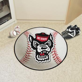 """27"""" North Carolina State University Wolfpack Baseball Style Round Mat"""