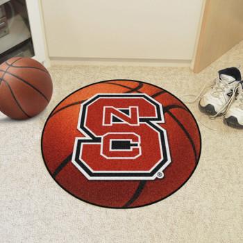 "27"" North Carolina State University Orange Basketball Style Round Mat"