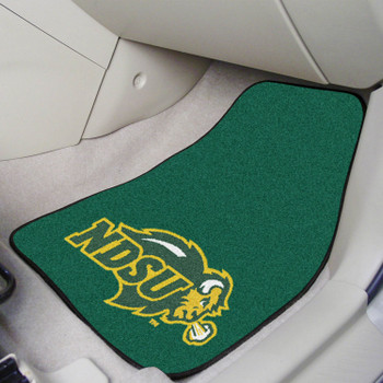 North Dakota State University Green Carpet Car Mat, Set of 2
