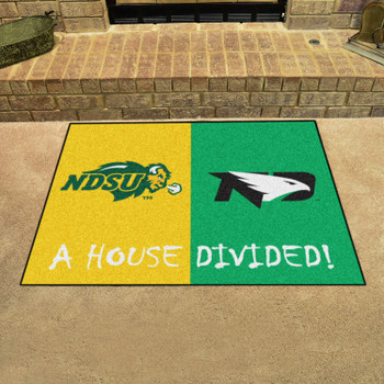 "33.75"" x 42.5"" North Dakota State / North Dakota House Divided Rectangle Mat"