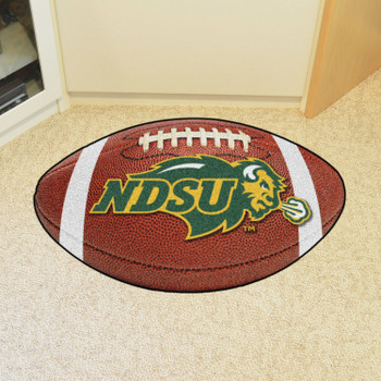 "20.5"" x 32.5"" North Dakota State University Football Shape Mat"