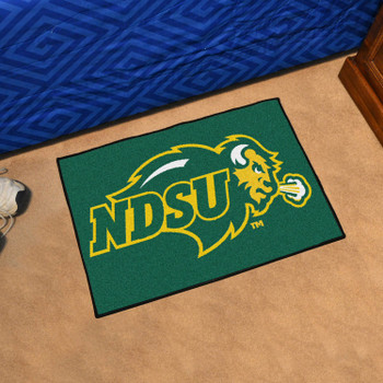 "19"" x 30"" North Dakota State University Green Rectangle Starter Mat"